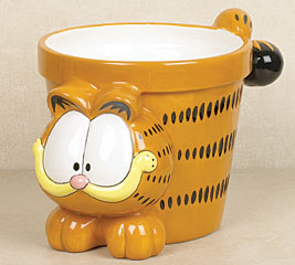 Garfield Ceramic Planter